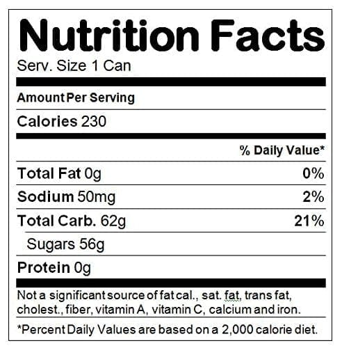 Nutrition Facts Soda
